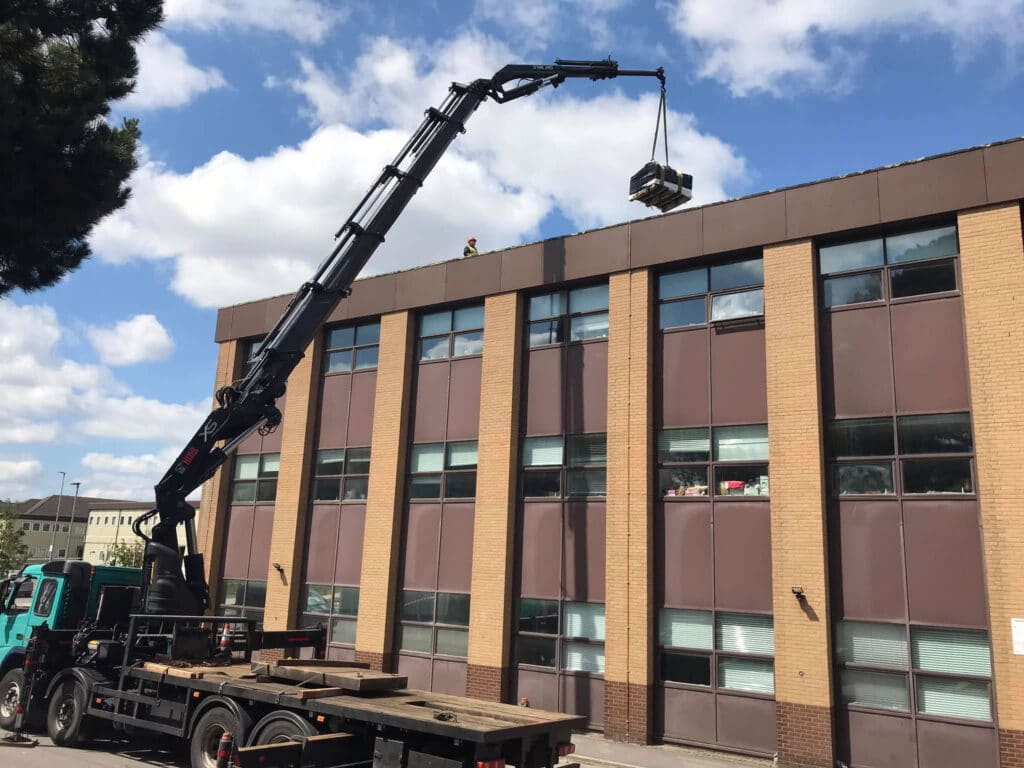 Mb Crane Hire Lifting Roofing Materials In Bournemouth