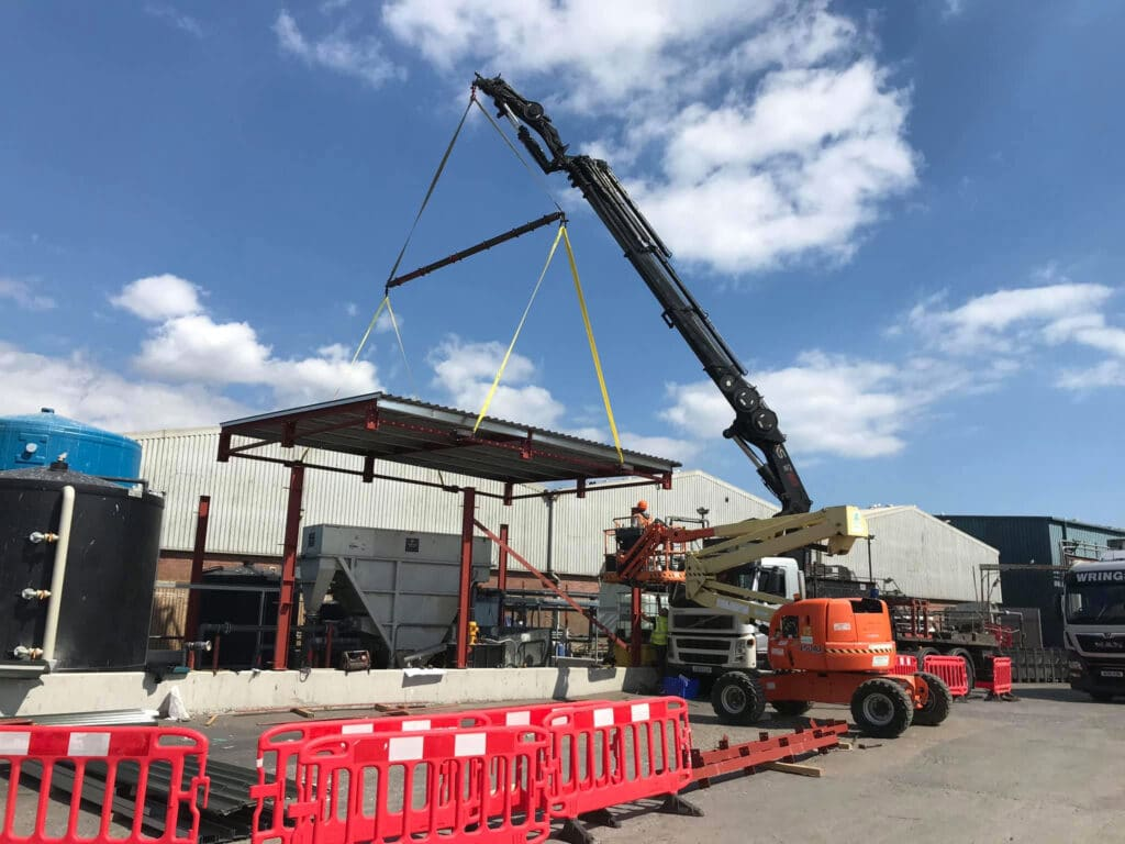 Mb Crane Hire Roof Clad On The Ground Lift Completed In One