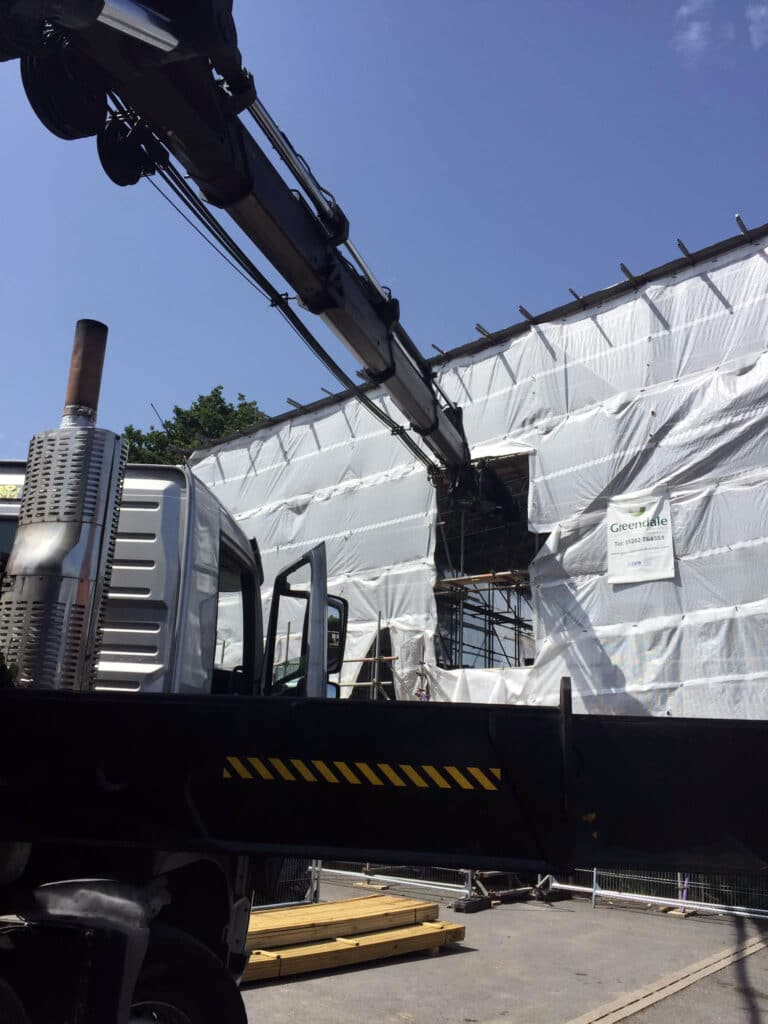 Mb Crane Hire Very Precise Delivery On Greendale Construction Site